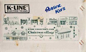K-Line K42101 1992 Collector's Club Christmas Village Set of 6 Buildings