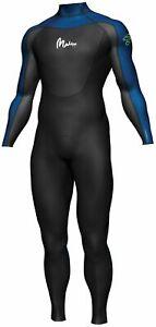 MADDOG Steamer 3/2mm Superstretch Wetsuit Mens Black Blue S M L XL XXL XXXL