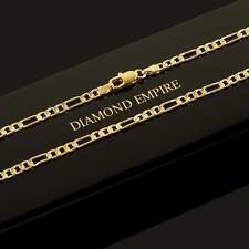 Donna Uomo Catena Figaro Collana 45, 50 cm x 3 mm rhiannarhianna placcato oro