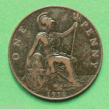 1910 Edward VII Penny SNo10838