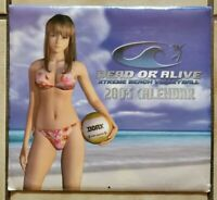 RARE Dead or Alive Xtreme Beach Volleyball 2003 Promo Calendar NEW Sealed