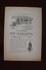 ✒ PROSPECTUS Souscription Gaston DONNET En Sahara 1898