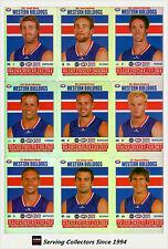2008 AFL Teamcoach Trading Card Silver Team set Western Bulldogs (10)