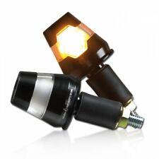 LED Lenkerendenblinker Paar Conic Schwarz mit klarem Glas Aluminium E-geprüft