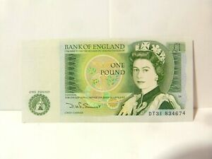 Somerset Crisp Bank of England One Pound £1 Bank Note DT31 834674