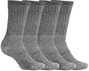 Merino Wool Socks Thermal Warm Men Women Children Hiking Crew Socks 4 pairs