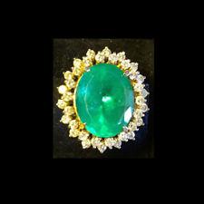 Brazilian Emerald 42 ctw Cocktail Ring with 2.4 ct Diamonds 18k-Size 5-NonProfit