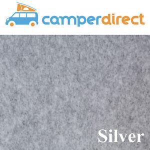 2m x 2m - Silver Van Lining Carpet Kit 4 Way Stretch Inc 2 Tin High Temp Spray