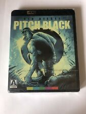 Pitch Black (4K Uhd Blu-Ray, Arrow Video) Sealed Riddick Vin Diesel