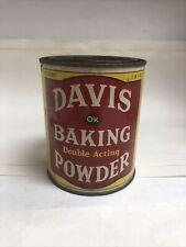 vintage davis baking powder