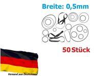 50x Riemen Antriebsriemen 2,7-8 cm für Kassettendeck Cassette Tape Deck Belt