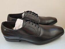 BASE LONDON Tyne Waxy Black Men's Formal Shoes SIZE UK 7