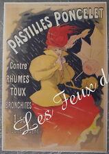 Publicité PONCELET Pastilles  pharmacie pharmacy   advert