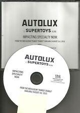 Greg of FAILURE & Replicants AUTOLUX Supertoys 2010 TST PRESS PROMO DJ CD Single