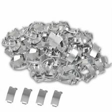 vidaXL 500x Dovetail Clips for NATO Razor Wire Galvanised Steel Fencing Cage