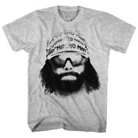 OFFICIAL Macho Man Randy Savage Portrait Face Men's Gray T-shirt Wrestling