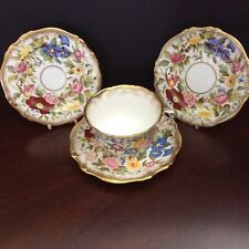 Hammersley Queen Anne Cup Saucer & Two Teaplates