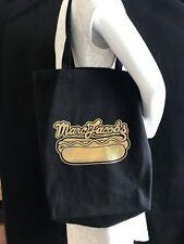 BNWT MARC JACOBS Black Cotton Printed Gold Logo Shoulder Bag SAVE £££s