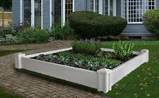 Decorative Vinyl VERSAILLES Raised Garden Planter Flower Vegetable Box Bed Pot