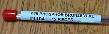 "Tichy Train Group #1104 (HO Scale)Phosphor-Bronze Wire - 8"" 20.3cm Long -- .025"""