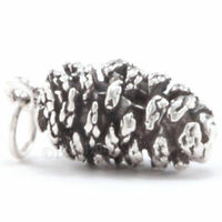 3D PINECONE Solid Sterling Silver CHRISTMAS tree Pendant 925 Charm Pine Cone 4 g