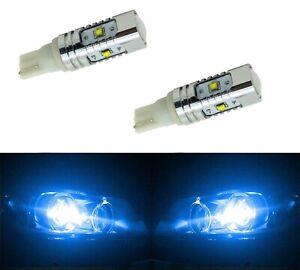 LED Light 30W 194 Blue 10000K Two Bulbs Front Side Marker Parking Upgrade Lamp