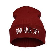 Warm Winter Fashion Bad Hair Day Cap Hip-hop Knit Beanie Hats Womens Mens Hat tt