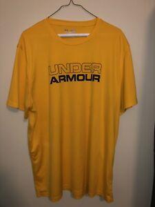 Under Armour Mens Yellow Shirt Size XL