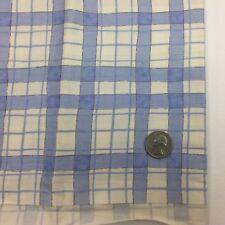 1/2 Yd Blue White Gingham Plaid Chintz Quilting Fabric