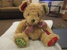 vintage Holly Hobbie Christmas holiday stuffed teddy bear patchwork paws 2005