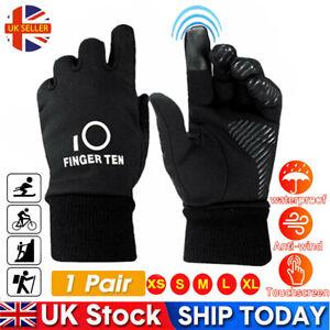 Winter Gloves Kids Touch Screen Warm Termal Windproof Boys Girls Cycling Ski UK