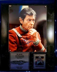 DeForrest Kelley/Dr McCoy Star Trek  25 Anniversary Autographed Photo Plaque-QVC