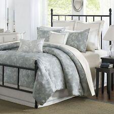 Harbor House Chelsea Queen Comforter Set 4 pc.   Pewter Blue Paisley