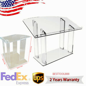 Acrylic Podium Tabletop Pulpit Lectern Clear Church Lectern for Office/Churches