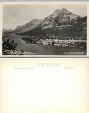 Townsite Waterton Lakes Alberta Canada Vintage Rppc Real Photo Postcard