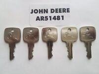 5 John Deere Ignition Keys fits many JD Equipment OEM AR51481 FAST SHIPPING