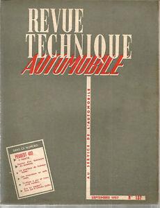 REVUE TECHNIQUE AUTOMOBILE 137 RTA 1957 PEUGEOT 403 (2) TURBINES A GAZ COUSSINET