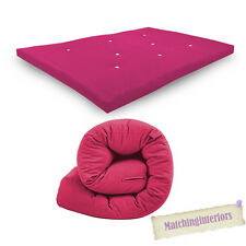 Pink Budget Double Futon Sofabed Replacement Roll Up Folding Sleeping Mattress