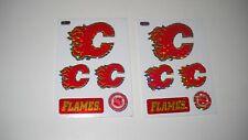 Calgary Flames stickers (set of 2) qa1
