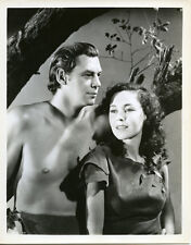Johnny Weissmuller Maureen O'Sullivan classic portrait as Tarzan and Jane