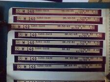 n°e610 lot 8 microfiche mercedes w140