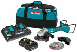 "Makita XAG12PT1 36V Brushless 7"" Paddle Switch Cut-Off/Angle Grinder Kit"