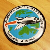 Vintage Alabama Space & Rocket Center Huntsville Souvenir Button Pin 2 inch