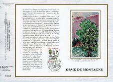 FEUILLET CEF / DOCUMENT PHILATELIQUE / ORME DE MONTAGNE 1985 ORLEANS