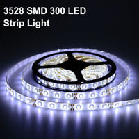 5M Tira Cinta Luz LED Flexible Impermeable 3528 SMD 300 LEDs Blanco Frío 12V