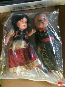 Vintage  Mexican Hard Plastic. Dolls - Awesome