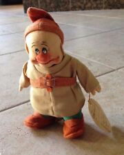 Rare Vintage 1937 Chad Valley Disney DOPEY Cloth/Felt Doll (Snow White&7 Dwarfs)
