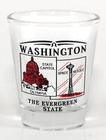 WASHINGTON STATE SCENERY RED NEW SHOT GLASS SHOTGLASS