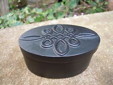 Celtic Oval Trinket Box black Pagan Wiccan
