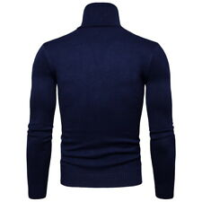 Mens Turtle Neck Knitwear Casual Sweaters Tops Blouse Shirts Pullover Slim Coats